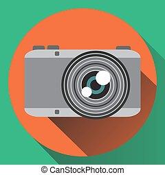 Vector flat colors photo camera