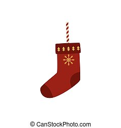 vector flat decorated christmas stockings