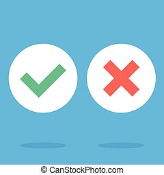 Vector flat design checkmarks icons