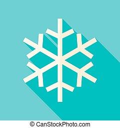 Vector Flat Design Christmas Winter Snowflake Icon