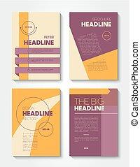 vector school flat design flyers templates vector school flat