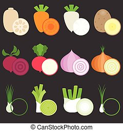 Vector Flat Design Vegetables