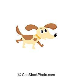 vector flat dog isolated illustration