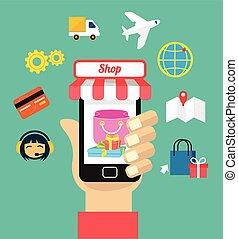 Vector flat e commerce illustration