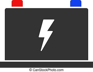 Vector Flat Electric Battery Icon
