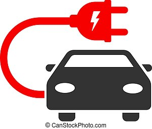 Vector Flat Electric Car Icon