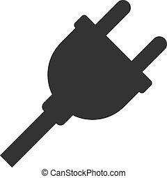 Vector Flat Electric Plug Icon