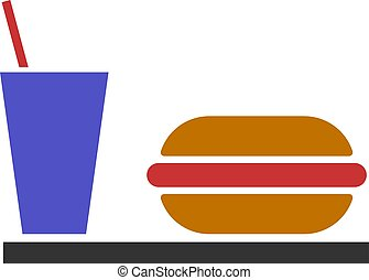 Vector Flat Fastfood Icon
