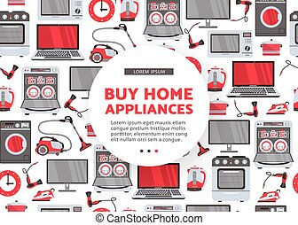 vector flat home appliance sale icon set - vector buy home...
