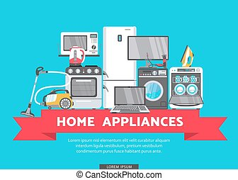 vector flat home appliance sale icon - vector online...