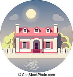 Vector flat house icon