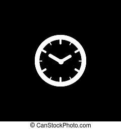 Vector flat icon clock