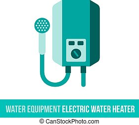 vector flat icon electric water heater