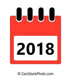 Vector flat icon of a daily calendar.