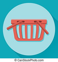 Vector flat icon of a shopping basket
