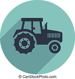 vector flat icon of a tractor