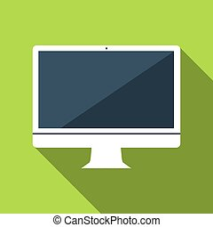 Vector flat icon of computer