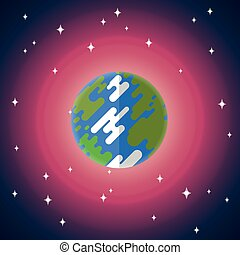 Vector flat icon of Earth