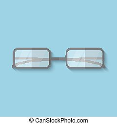Vector flat icon of glasses.