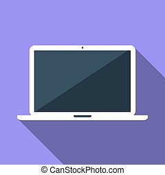Vector flat icon of laptop