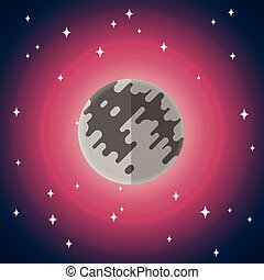 Vector flat icon of Moon