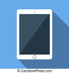 Vector flat icon of tablet