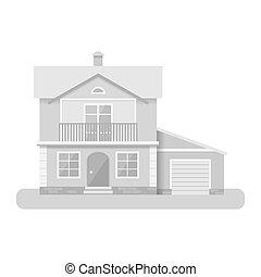Vector flat illustration house icon isolated on white background.