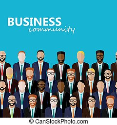 vector flat  illustration of business or politics community. a l