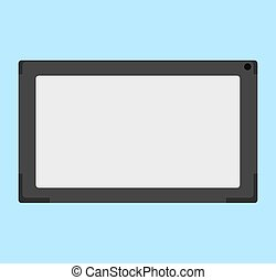 Vector flat illustration of electronic tablet