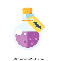 illustration of potion of poison - Vector flat illustration ...