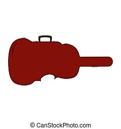 Vector flat illustration of violin case