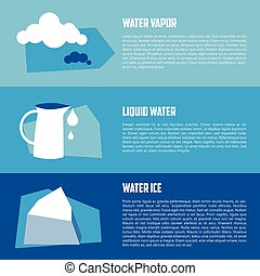 Vector flat illustration of water