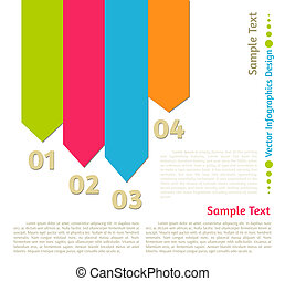 Vector flat infographics design background