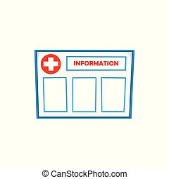 vector flat information board isolated