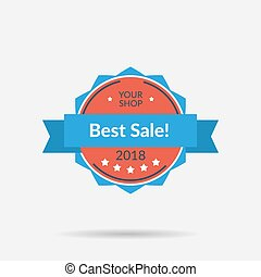 Flat isolated badge - Best Sale