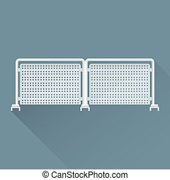 vector flat metal event fence illustration icon