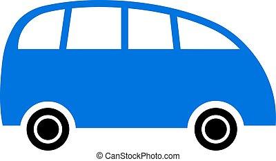 Vector Flat Minibus Icon
