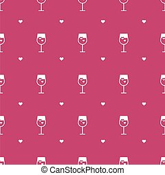 Vector flat minimalistic wine seamless pattern - Vector...