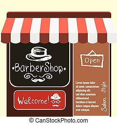 Vector flat modern illustration barber shop.