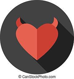 Vector flat modern round heart icon