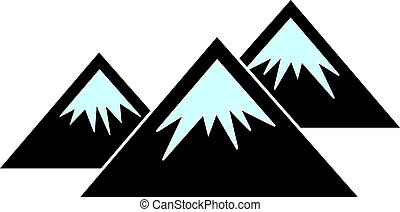 Vector Flat Mountains Icon