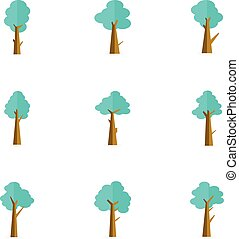 Vector flat of tree set style
