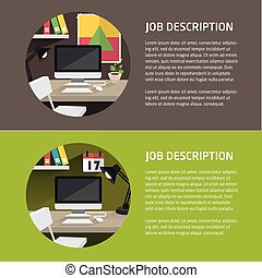 Vector flat office illustration