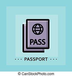 Vector flat passport icon