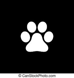 Vector flat paw icon