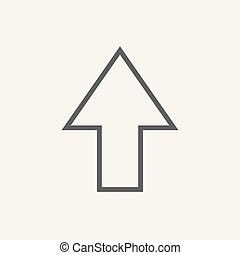 Vector flat pointer icon isolated on white
