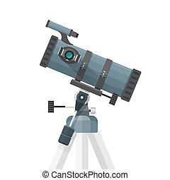 vector flat reflecting telescope illustration - vector...