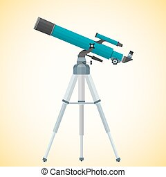 vector flat refracting telescope illustration - vector...