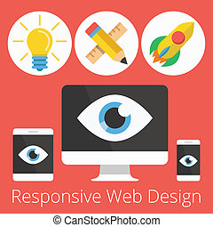 Vector Flat Responsive Web Design