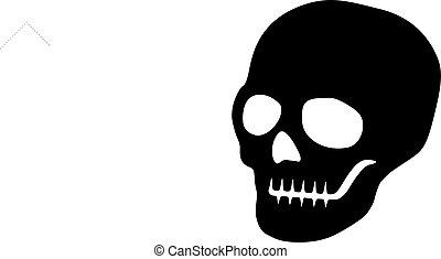 Vector Flat Skull Icon